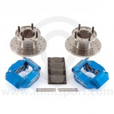 Blue 7.5'' Mini Sport Brake Kit with 4 Pot Alloy Calipers