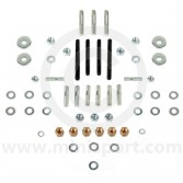 Classic Mini Cylinder Head Ancillary Stud and Nut Kit