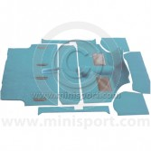 Powder Blue - Moulded Carpet Set - Mini pre 73