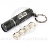 LED Lenser K2 Black Mini Key Ring Torch with Paddy Logo - 25 Lumens