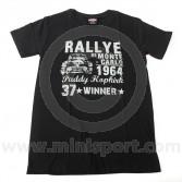 Paddy Hopkirk Collection Rallye de Monte Carlo Black T Shirt