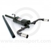 Sportex Dual Exit Single Silencer Exhaust System - 2'' Tailpipes