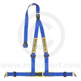 Sabelt Clubman 3 Point Harness - Snap Hook Fixing - Blue