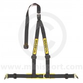 Sabelt Clubman 3 Point Harness - Snap Hook Fixing - Black