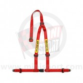 Sabelt Clubman 3 Point Harness - Bolt Fixing - Red