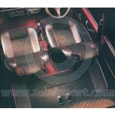 Mini Cooper Rear Seat Cover Kit - Black lightning cloth