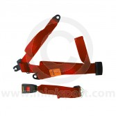 Securon Rear Static Seat Belt - Red