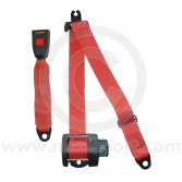 Securon Rear Inertia Reel Seat Belt - Red