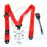 SEC300/30/RED Mini Securon Front Static Seat Belt - Red