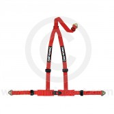 Securon 3 Point Harness - Snap Hooks - Red