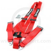 Securon 3 Point Harness - Bolt-in - Red