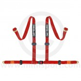 Securon 4 Point Harness - Bolt-in - Red