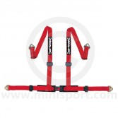 Securon 4 Point Harness - Snap Hooks - Red