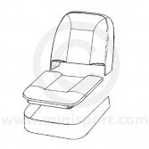 Front Seat Base & Squab Foam Cushion Set - Mini 1275GT 69-75