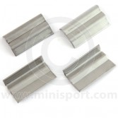 SMB122 Set 4 of Mini bumper overider clamps in stainless steel