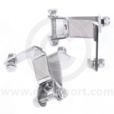 Pair of stainless steel Mini Cooper lamp brackets