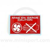 Self Adhesive Radiator Warning Label