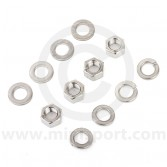 SMBFK027 Classic Mini top suspension arm fitting kit, in stainless steel for both sides.