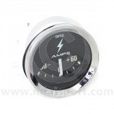Smiths Ammeter 60/60 Gauge - Black face with chrome bezel