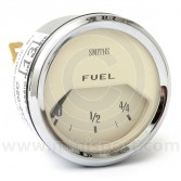 Smiths Fuel Gauge - Magnolia face with Chrome Ring