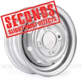 "Cooper S 3.5"" x 10"" Steel Wheel - Silver (Wheels) Clearance Seconds"