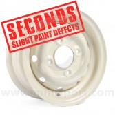 "Cooper S 4.5"" x 10"" Steel Wheel - White (Wheels) Clearance Seconds"