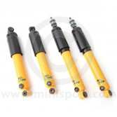 SPANGM11KITY Spax yellow adjustable Mini lowered front and rear shock absorbers set of 4