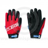 Mechanics Gloves - Sparco - Red