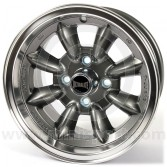 SPDML3GM Mini Ultralite 7'' x 13'' Alloy Wheel - Gunmetal with Polished Rim