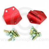 Annodised Alloy Solid Front Subframe Rear mounts pair