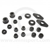 SPDSP675L.BLK Mini black poly suspension bush, full kit, all models 1976 to 2001.