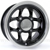 5 x 10 Mamba Alloy Wheel - Black with Polished Rim