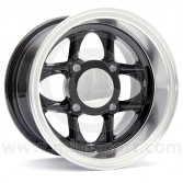 6 x 10 Mamba Wheel - Black/Polished rim