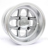 6 x 10 Mamba Wheel - Silver with polished rim