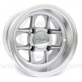 6 x 10 Mamba Wheel - Silver/Polished rim