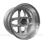 7 x 13 Mamba Wheel - Silver with polished rim