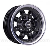 5 x 10 Minilight Wheel - Black/Polished Rim