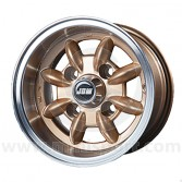 6 x 10 Minilight Wheel - Gold/Polished Rim
