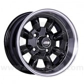 6 x 12 Minilight Wheel - Black/Polished Rim