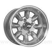 6 x 12 Minilight Wheel - Silver/Polished Rim