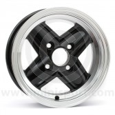 5 x 12 Revolite Wheel - Black/Polished Rim