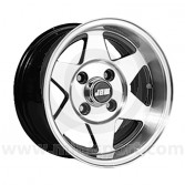 6 x 12 Starmag 2 Deep Dish Wheel - Black Hi-Lite