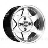 7 x 13 Starmag 2 Deep Dish Wheel - Black Hi-Lite