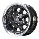 5 x 12 Superlight Wheel - Black/Polished Rim