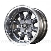 7 x 13 Superlight Wheel - Gunmetal/Polished Rim