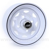 4.5 x 10 W8 Steel Wheel - White