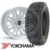 "5"" x 12"" silver Ultralite alloy wheel and Yokohama A539 tyre package"