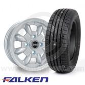 """5"""" x 12"""" silver Ultralite alloy wheel"""