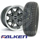 "6"" x 10"" anthracite Ultralite alloy wheel and Falken FK07-E tyre package"