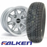 "4 6"" x 10"" silver Ultralite alloy wheel and Falken FK07-E tyre package"